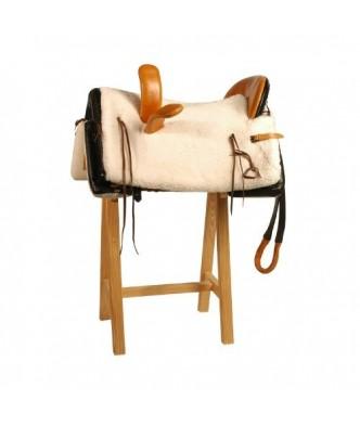 HORSEWOMAN COWBOY SADDLE