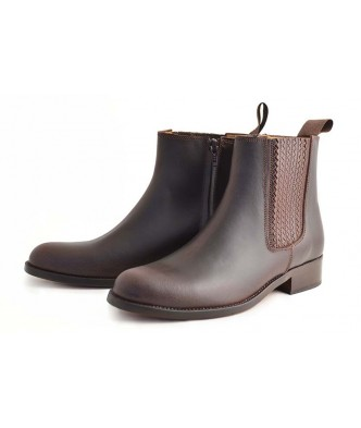 PLEATED ZIPPER MOLDED BOOTS